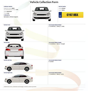 ServiceGuru ServiceM8 Custom Form: Vehicle Collection Form
