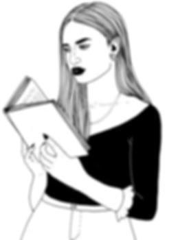 Feminist women reading empowering feminist book