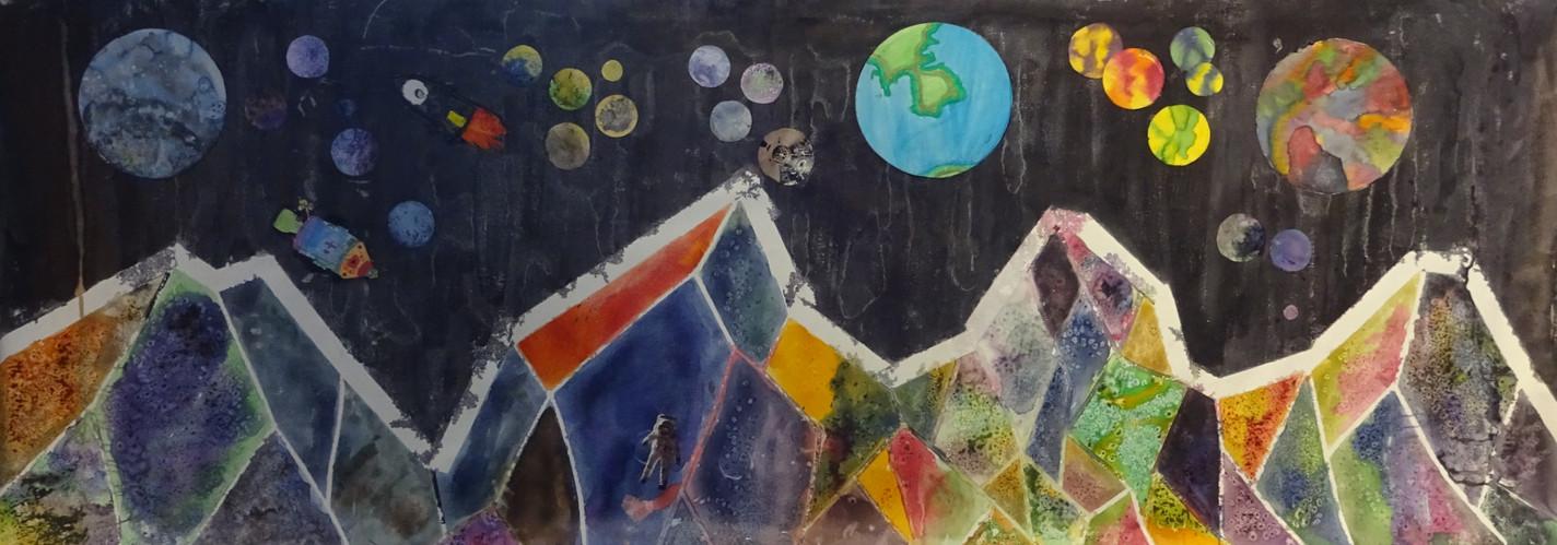 et billede fra en billedskole udstilling.