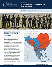 U.S. Security Assistance to the Balkans