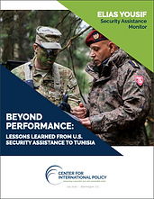 Report: Beyond Performance: Lessons Learned from U.S. Security Assistance to Tunisia