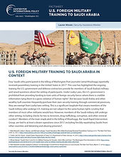 Factsheet: U.S. Foreign Military Training to Saudi Arabia in  Context