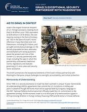 Israel's Exceptional Security Partnership with Washington
