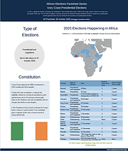 Fact Sheet: African Elections Factsheet Series: Ivory Coast Presidential Elections
