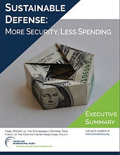 Report: Sustainable Defense:  More Security, Less Spending (Executive Summary)