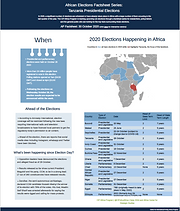 Fact Sheet: African Elections Factsheet Series: Tanzania Presidential Elections