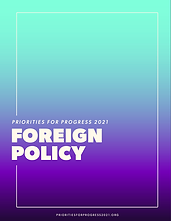 Priorities for Progress 2021: Foreign Policy