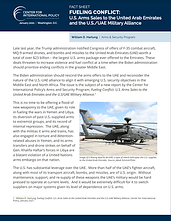FUELING CONFLICT: U.S. Arms Sales to the United Arab Emirates and the U.S./UAE Military Alliance Fact Sheet
