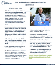 Biden Administration's US-Africa Foreign Policy Plan