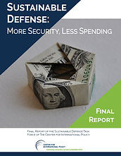 Report: Sustainable Defense:  More Security, Less Spending