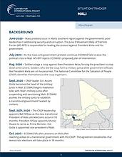 Mali Situation Tracker