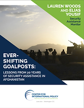 Ever Shifting Goal Posts: Lessons from 20 Years of Security Assistance in Afghanistan