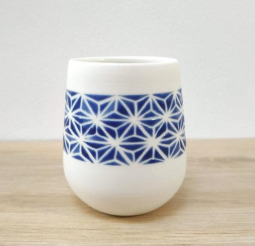 Gobelet Asanoha Bleu