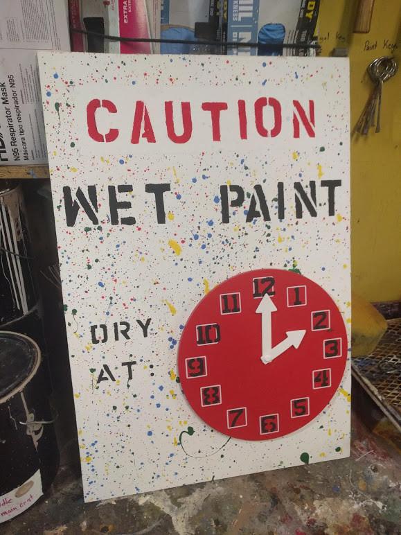 Wet Paint Sign