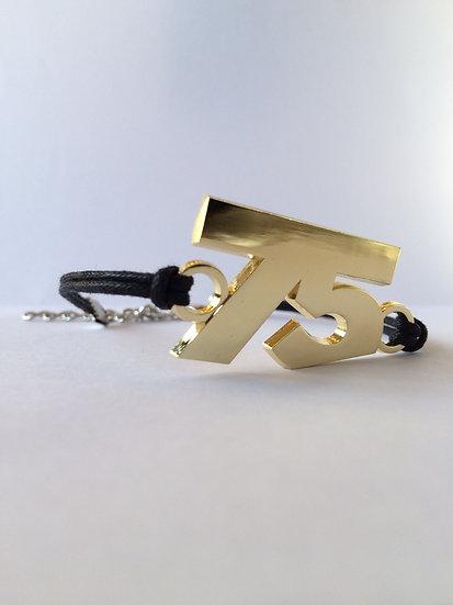 75 Bracelet Black Gold