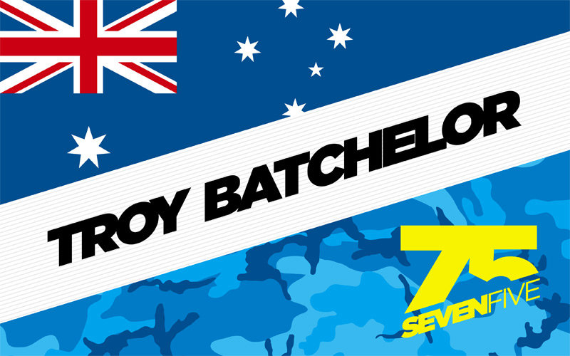 75 Troy Batchelor Fan Flag