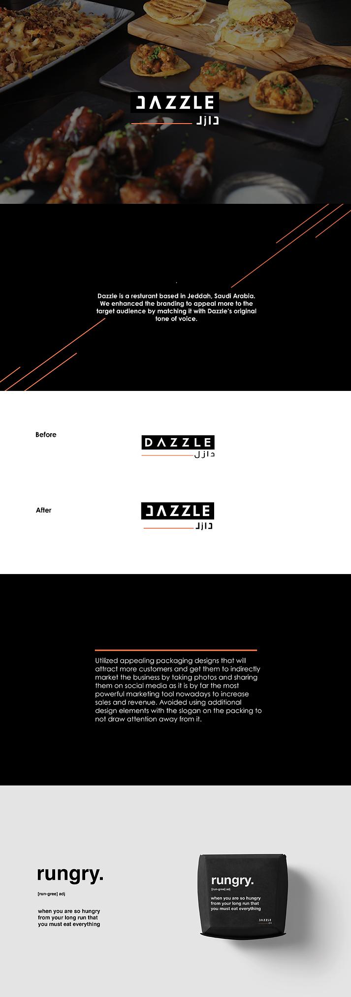 Dazzle resturant - work