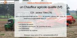 CDI Chauffeur agricole (76)