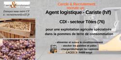 CDI Agent logistique/Cariste (76)