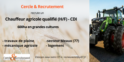 CDI Chauffeur agricole (77)