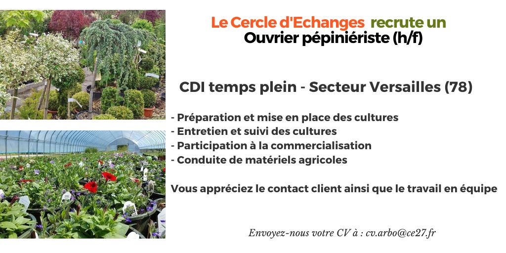 CDI Ouvrier Pépinériste (78)