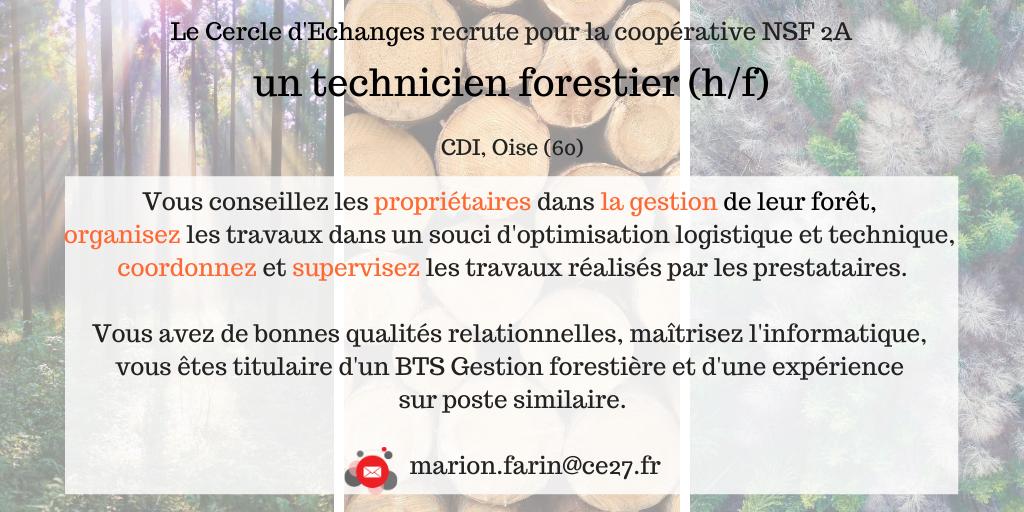 CDI Technicien forestier (60)