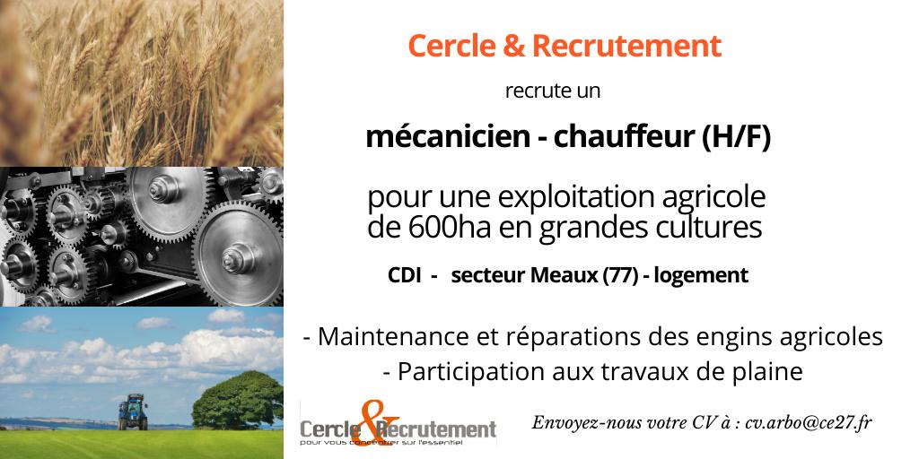 CDI Mécanicien-chauffeur (77)