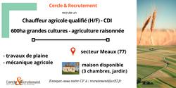 CDI Chauffeur agricole qualifié (77)