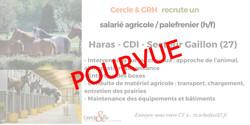 CDI Salarié agricole/Palefrenier(27)