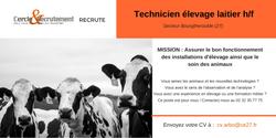 CDI Technicien élevage laitier(27)