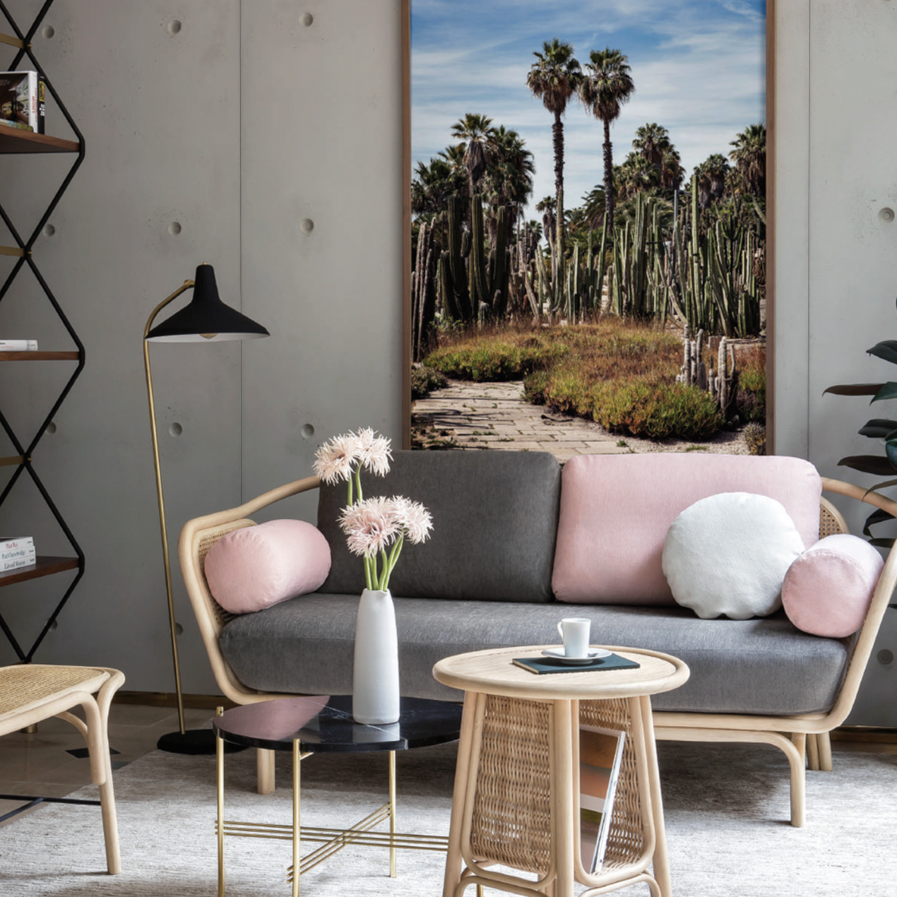 Bôa calme sofa, Orchid edition