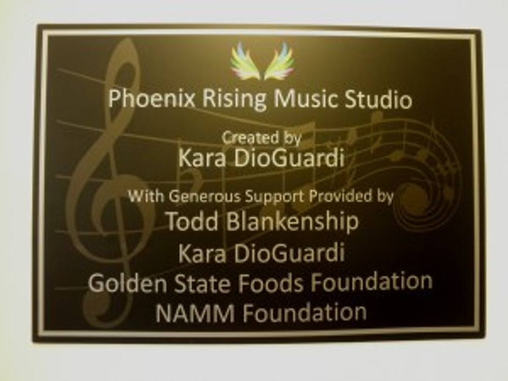 GSFF supported the dedication of the Phoenix Rising Music Studio in Santa Ana on November 4, 2013.