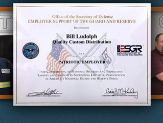 "QCD Portland Transportation Manager, Supervisor Recognized as ""Patriotic Employer"" by Department of"