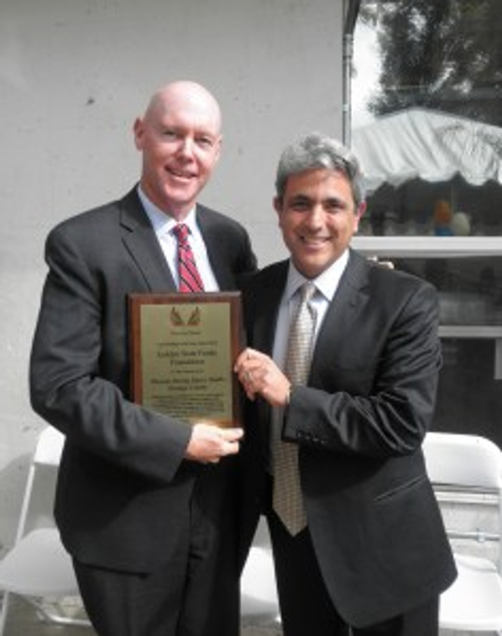 (from left to right): GSF's Bill Sanderson, Senior Vice President and Chief Financial Officer, and Pouria Abbassi, Senior Vice President and California Regional Director of Phoenix House at the dedication of the Phoenix Rising Music Studio in Santa Ana on November 4, 2013.