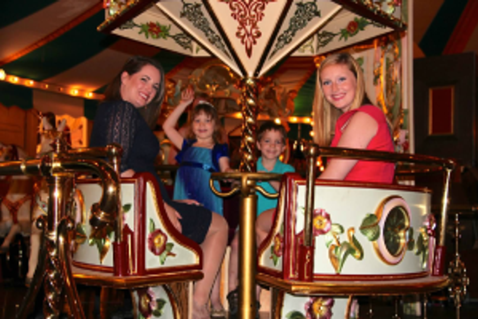 Families enjoy the carousel