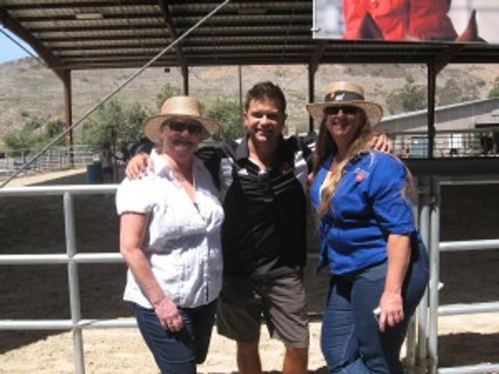 Belinda Salazar, Jared Dunn and Becky Kruger lend a hand at the Shea Riding Center