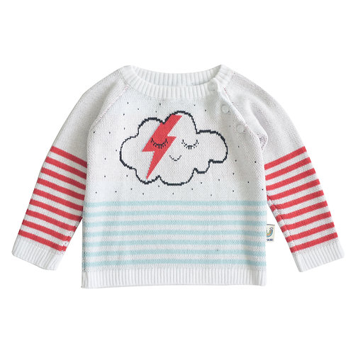 Sweater Nube Blanco/Azul