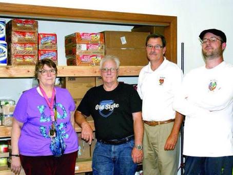 AOH Helps Seaville Food Pantry