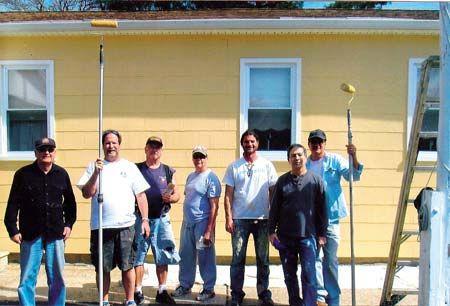 Hibernians paint Marmora VFW building
