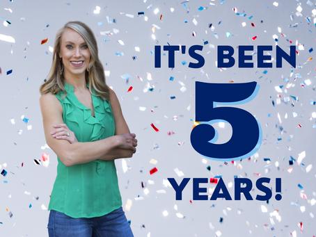 It's been FIVE years!