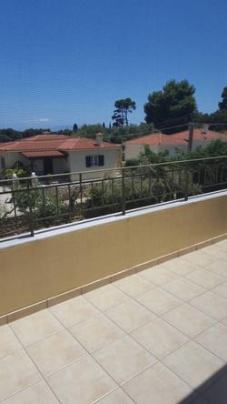 Villa Katirinia terrace upstairs