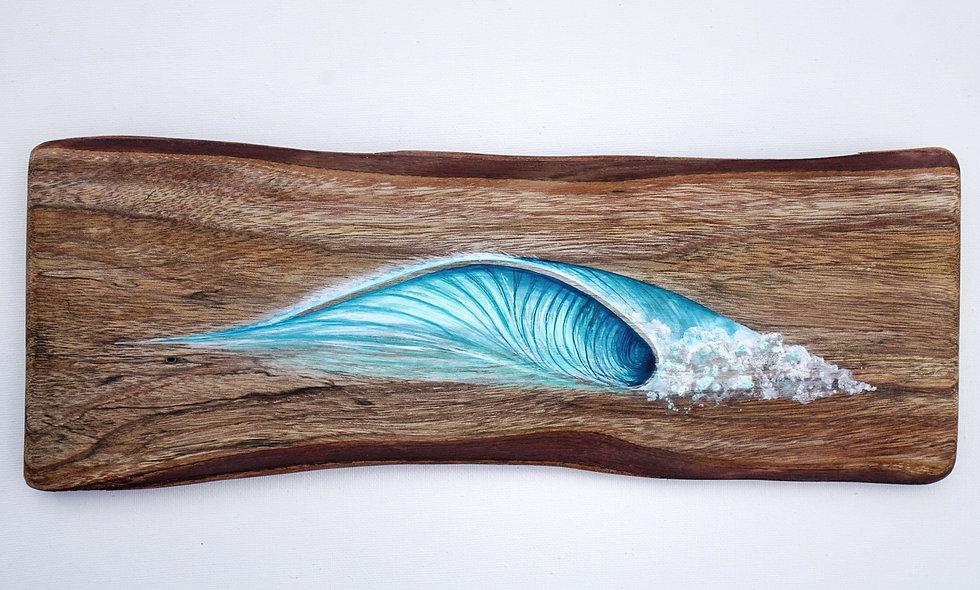 Wave on Koa w/ natural bark