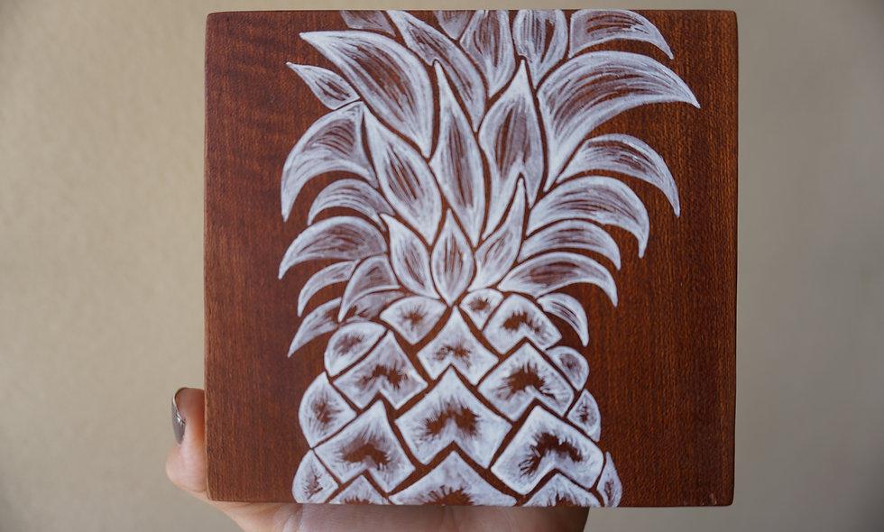 Pineapple on Mahogany