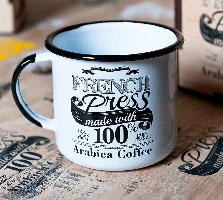 design gráfico exclusivo da estampa das xícaras esmaltadas do Clube do Café