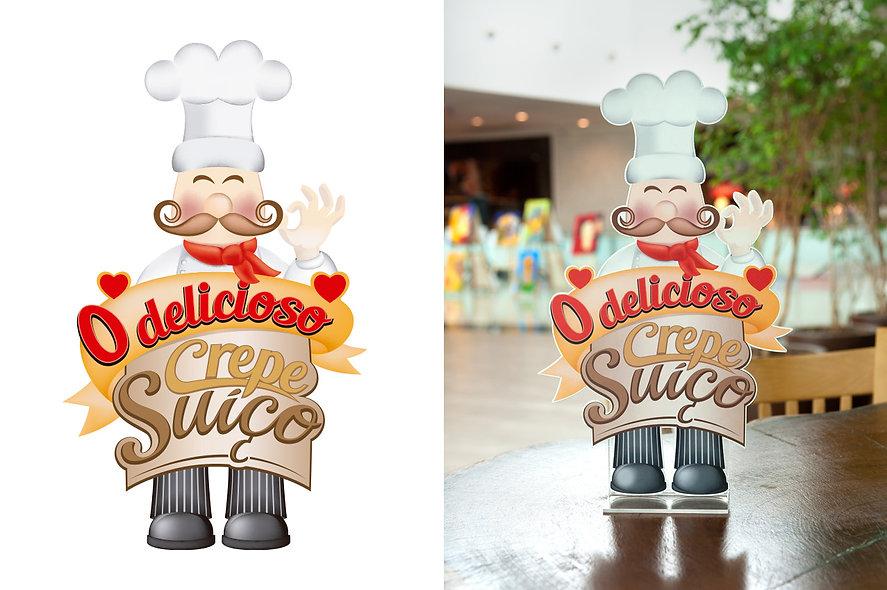 Logomarca criada para identidade visual O Delicioso Crepe Suíço