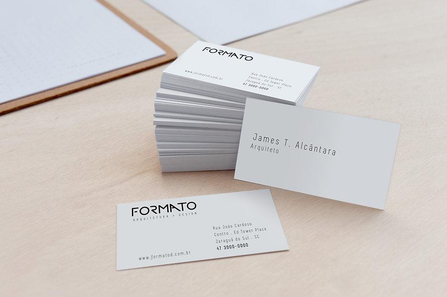 cartao de visitas formato arquitetura