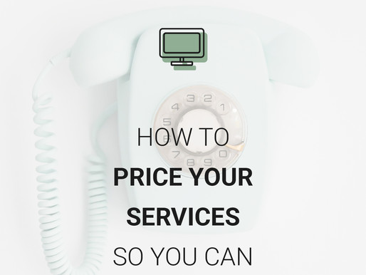 How To Price Your Services So You Can Start Selling
