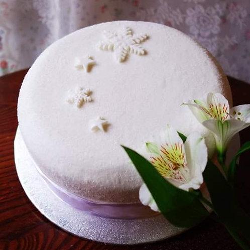 Christmas Cake - Sparkling White