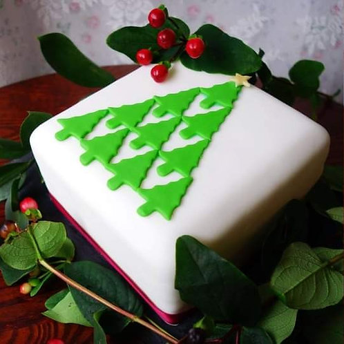 Christmas Cake - Red and Green