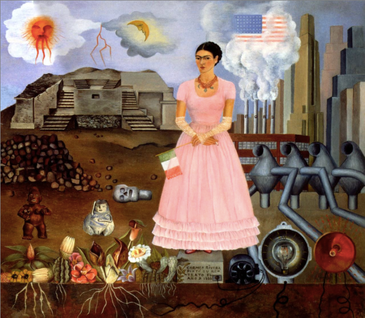 Frida Kahlo, elf Portrait on the Borderline between Mexico and the United States, 1932, Philadelphia Museum of Art